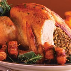 Roast Turkey with Leek, Apricot and Chestnut Stuffing