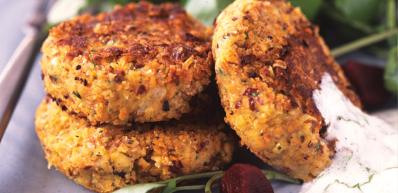 Spiced Bean and Carrot Patties