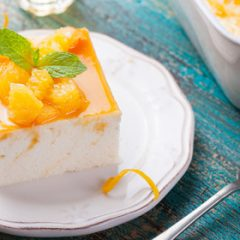 Orange Mousse with Fresh Orange Glaze