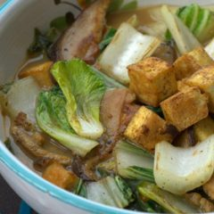Miso Broth with Pak Choi and Tofu