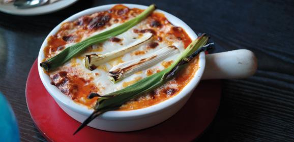 Leek, Aubergine and Tomato Gratins