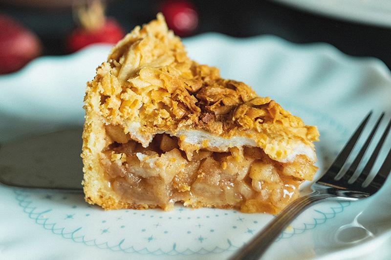 Crispy Topped Deep-dish Apple Pie