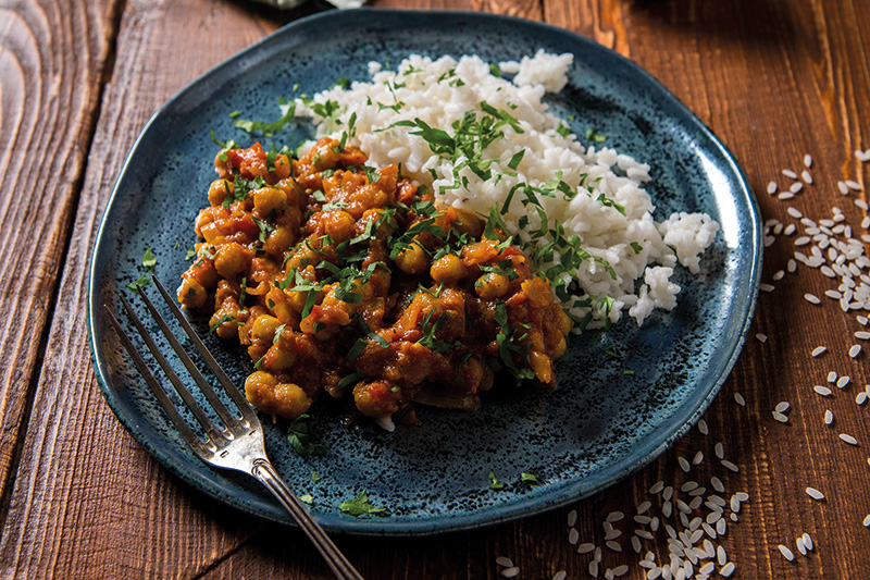 Spiced Chickpea and Tomato Stew